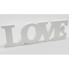 ΞΥΛΙΝΟ LOVE 31x11cm - ΛΕΥΚΟ - ΚΩΔ:519284