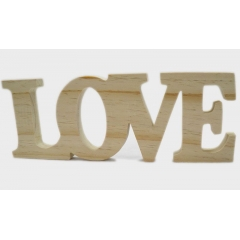 ΞΥΛΙΝΟ LOVE 31.5cm x 11cm x 1.8cm ΦΥΣΙΚΟ ΑΒΑΦΟ - ΚΩΔ: 519306