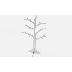 ΞΥΛΙΝΟ ΔΕΝΤΡΟ ΛΕΥΚΟ ΜΕ ΦΥΛΛΑ 43cm x 23cm - ΚΩΔ: 519206
