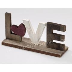 ΞΥΛΙΝΟ ΔΙΑΚΟΣΜΗΤΙΚΟ LOVE 15X6ΕΚΑΤ. - ΚΩΔ:TR18-RN