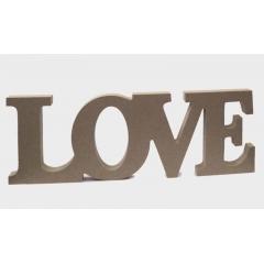 ΞΥΛΙΝΟ ΔΙΑΚΟΣΜΗΤΙΚΟ LOVE MDF 31x11cm - ΚΩΔ:519381