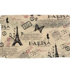 ΡΟΛΟ ΚΑΡΑΒΟΠΑΝΟ ΑΣΠΡΟΜΑΥΡΟ PARIS 48cm x 4,57 ΜΕΤΡΑ - ΚΩΔ:527194