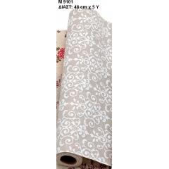 ΥΦΑΣΜΑ ΜΕ ΛΟΥΛΟΥΔΙΑ 48cm X 4,57 ΜΕΤΡΑ - ΚΩΔ:M9101-AD