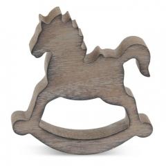 Μπομπονιέρα βάπτισης αλογάκι από ξύλο - ΚΩΔ:MPO-14G6465