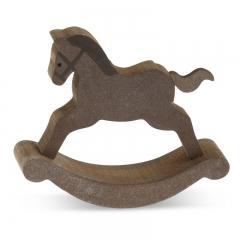 Μπομπονιέρα βάπτισης ξύλινο αλογάκι - ΚΩΔ:MPO-14G7044