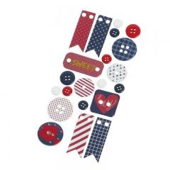 Καρτέλα με διάφορα διακοσμητικά αυτοκόλλητα - ΜΠΛΕ -ΚΟΚΚΙΝΟ - ΚΩΔ:K0246-PR