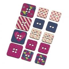 Καρτέλα με τετράγωνα αυτοκόλλητα κουμπιά- ΚΩΔ:K0220-PR