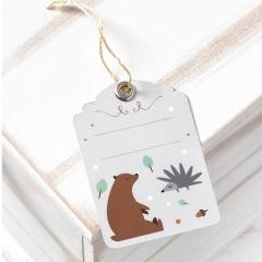 Χάρτινη ετικέτα αρκουδάκι ethnic - ΚΩΔ:81532-PR