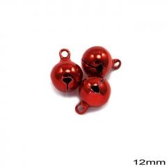 Κουδούνι Σιδερένιο Στρογγυλό 12mm -ΚΟΚΚΙΝΟ- ΚΩΔ:235100732.001-TX