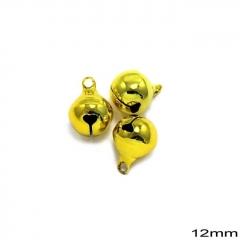 Κουδούνι Σιδερένιο Στρογγυλό 12mm -ΧΡΥΣΟ- ΚΩΔ:235100732.003-TX
