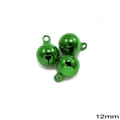 Κουδούνι Σιδερένιο Στρογγυλό 12mm -ΠΡΑΣΙΝΟ- ΚΩΔ:235100732.004-TX