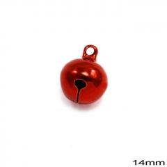 Κουδούνι Σιδερένιο Στρογγυλό 14mm -ΚΟΚΚΙΝΟ- ΚΩΔ:235100733.001-TX