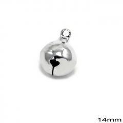 Κουδούνι Σιδερένιο Στρογγυλό 14mm -ΑΣΗΜΙ- ΚΩΔ:235100733.002-TX