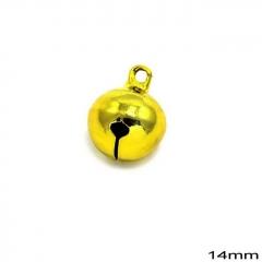 Κουδούνι Σιδερένιο Στρογγυλό 14mm -ΧΡΥΣΟ- ΚΩΔ:235100733.003-TX