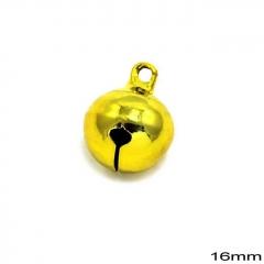 Κουδούνι Χάλκινο Στρογγυλό 16mm -ΧΡΥΣΟ- ΚΩΔ:235100734.002-TX