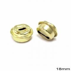 Κουδούνι Σιδερένιο Στρογγυλό 18mm -ΧΡΥΣΟ- ΚΩΔ:256100074.001-TX