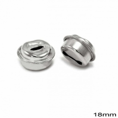 Κουδούνι Σιδερένιο Στρογγυλό 18mm -ΑΣΗΜΙ- ΚΩΔ:256100074.002-TX