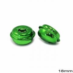 Κουδούνι Σιδερένιο Στρογγυλό 18mm -ΠΡΑΣΙΝΟ- ΚΩΔ:256100074.004-TX
