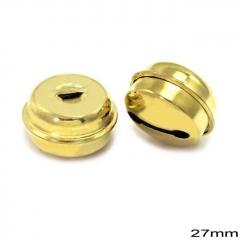 Κουδούνι Σιδερένιο Στρογγυλό 27mm -ΧΡΥΣΟ- ΚΩΔ:256100078.001-TX