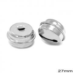 Κουδούνι Σιδερένιο Στρογγυλό 27mm -ΑΣΗΜΙ- ΚΩΔ:256100078.002-TX