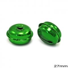 Κουδούνι Σιδερένιο Στρογγυλό 27mm -ΠΡΑΣΙΝΟ- ΚΩΔ:256100078.004-TX