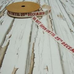 """ΚΟΡΔΕΛΑ ΟΙΚΟΛΟΓΙΚΗ """"DO NOT OPEN UNTIL 25TH DECEMBER"""" 1,5cm x 20m - ΚΩΔ:FL01096"""