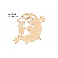 ΞΥΛΙΝΟ ΔΙΑΚΟΣΜΗΤΙΚΟ ΦΕΓΓΑΡΑΚΙ ΜΕ ΑΣΤΕΡΙΑ 10,7 ΕΚΑΤ. - ΚΩΔ:M1005-AD