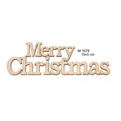 ΞΥΛΙΝΟ ΔΙΑΚΟΣΜΗΤΙΚΟ MERRY CHRISTMAS  - ΚΩΔ:M1079-AD