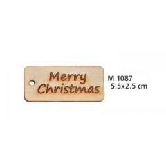 ΞΥΛΙΝΟ ΤΑΜΠΕΛΑΚΙ MERRY CHRISTMAS - ΚΩΔ:M1087-AD