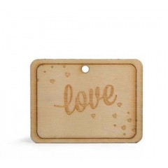 ΞΥΛΙΝΟ ΚΑΡΤΕΛΑΚΙ LOVE -6,4X6.4ΕΚ - ΚΩΔ:103843-GN