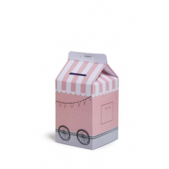 MILK BOX ΖΩΓΡΑΦΙΚΗΣ ΡΟΖ -14,5Χ7,5ΕΚ - ΚΩΔ:104029-GN