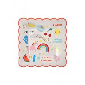 Rainbow Πιάτο Γλυκού 8τμχ - ΚΩΔ:143722-JP