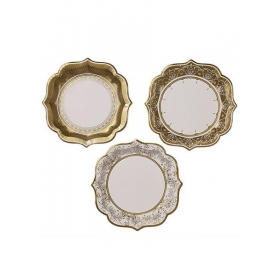 Porcelain Gold Πιάτο Μεσαίο - ΚΩΔ:PPG-PLATE-MED!-JP
