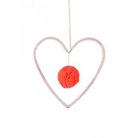 Υφασμάτινη Κρεμαστή Καρδιά - ΚΩΔ:157816-JP