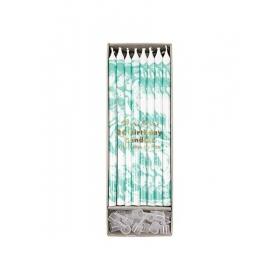 Κεράκια Γενεθλίων Marbled Mint - ΚΩΔ:154648-JP