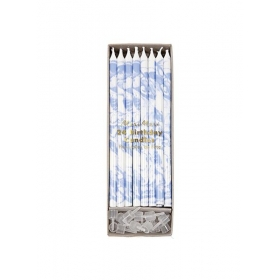 Κεράκια Γενεθλίων Marbled Blue - ΚΩΔ:154675-JP