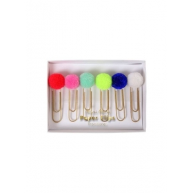 Συνδετήρες Πολύχρωμα Pom Pom - ΚΩΔ:156178-JP