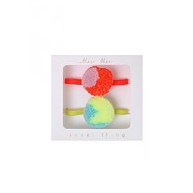 Λαστιχάκια Μαλλιών Pom Pom - ΚΩΔ:146971-JP