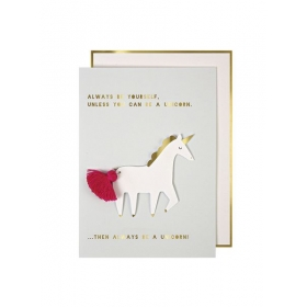 Ευχετήρια Κάρτα Unicorn with Tassel - ΚΩΔ:136657-JP