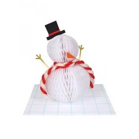 Ευχετήρια Κάρτα Honeycomb Snowman - ΚΩΔ:165007-JP