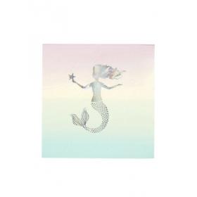 Mermaid Χαρτοπετσέτα Μεγάλη - ΚΩΔ:MERMAID-NAPKIN-JP