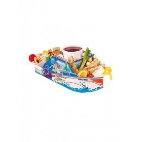 Χάρτινο tray  φαγητού με θέμα καράβι – θάλασσα - ΚΩΔ:1-GS-109-JP