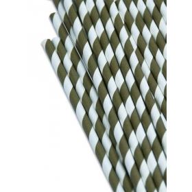 Καλαμάκια χάρτινα ριγέ μεταλλικό χρυσό - ΚΩΔ:8793-JP