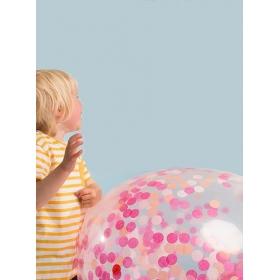 Pink Confetti Γιγάντιο Μπαλόνι 3τμχ - ΚΩΔ:143479-JP