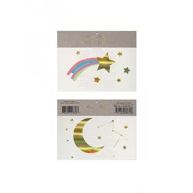 Rainbow Shooting Star Τατουάζ 2τμχ - ΚΩΔ:145837-JP