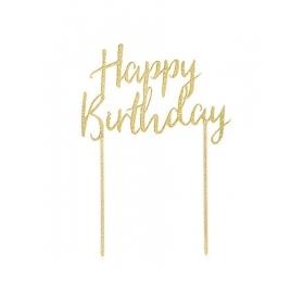 Happy Birthday Cake Topper - ΚΩΔ:TOPPER-HAPPYBRTHDAY-JP