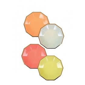 Πιάτο Γλυκού Νέον Χρώματα - ΚΩΔ:156988-JP