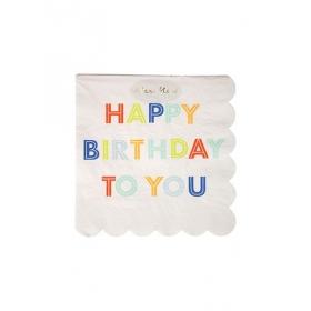 Χαρτοπετσέτες Μικρές Happy Birthday To You - ΚΩΔ:157150-JP