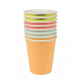 Ποτήρια Νέον χρώματα - ΚΩΔ:159706-JP
