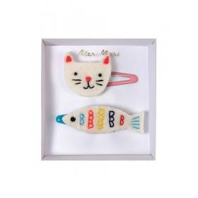 Κλιπ Μαλλιών Γάτα & Ψάρι - ΚΩΔ:160795-JP